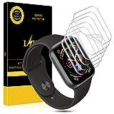 L K [6 Stücke 40mm Serial 4 Schutzfolie für Apple Watch Series 4, Liquid Skin [Blasenfreie] HD klar Flexible Folie for Apple Watch Displayschutzfolie 40mm Series 4