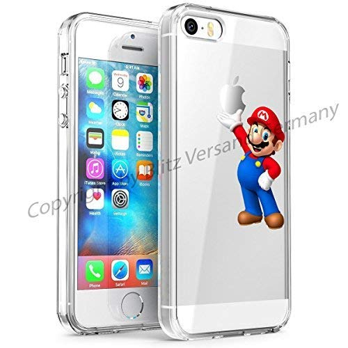 Blitz® DISNEY Schutz Hülle Transparent TPU Cartoon Comic Case iPhone 5 Super Mario iPhone 5/5s