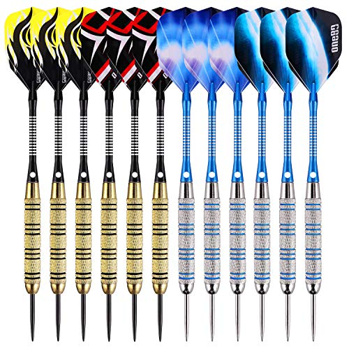 one80 professional perfection Dartpfeile,12 Stück Steel Darts Pfeile Set,20 Gramm (18 Gramm Barrel) Profi Steeldarts mit Metallspitze (12 Stück)