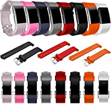 Malloom Nueva moda deportes reemplazo silicona pulsera correa banda para Fitbit Charge 2