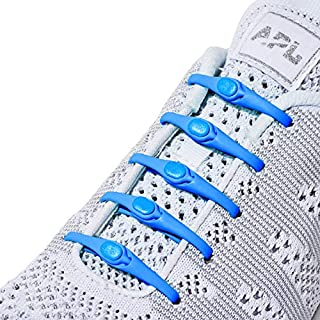 HICKIES 2.0 One-Size Fits All No Tie Elastic Shoelaces- Electric Blue (14 HICKIES Shoelaces, Works In All Shoes)