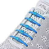 Hickies 2.0 verbesserte elastische Schnürsenkel, Einheitsgröße, kein Schnüren erforderlich - elektrisches blau