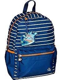 Spiegelburg 14548 Mochila Infantil Azul Capt'n Sharky en el Fondo del Mar (Con Mini LED Pez)