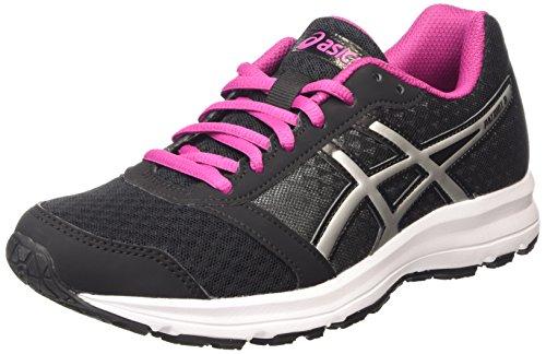 ASICS Patriot 8, Chaussures de Running Compétition femme - Noir (black/silver/berry 9093), 40.5 EU
