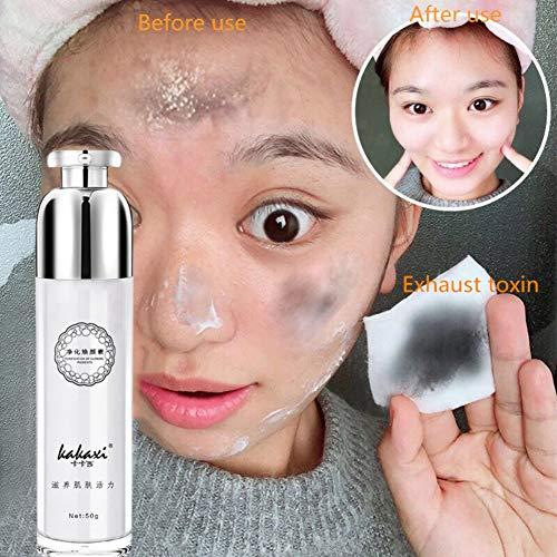 Gesichtsmassage Creme Feuchtigkeitsspendende Öl-Kontrolle Entfernen Sie Mitesser Schrumpfende Poren Gesichts-Detox-Creme