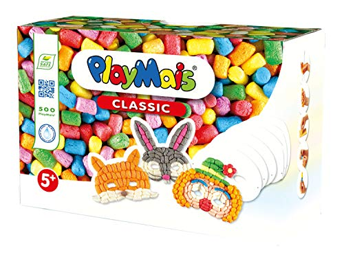 PlayMais Juego de Manualidades 160649 Classic Fun to Play Masks, Aprox. 500 Piezas