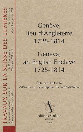 Genève, lieu d'Angleterre, 1725-1814