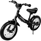 Deuba Vélo Street Enfant Noir - Selle Guidon réglable - Bicyclette Pirate