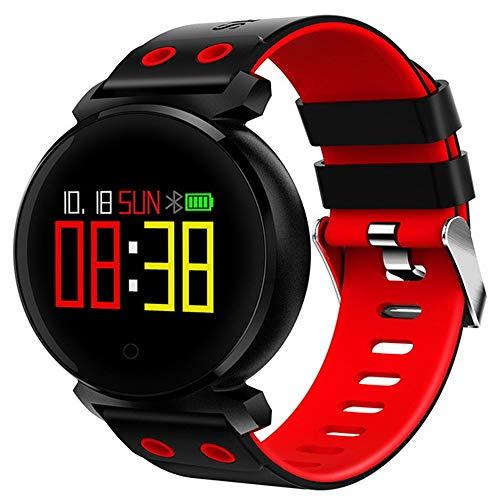 WTYCHS Aktivitätstracker Smart Armband Blutdruck-Herzfrequenz-Messgerät Blutsauerstoff-Erkennung IP68 wasserdichtFitness Tracker Smart Watch, rot Mobile Phone Management Tool