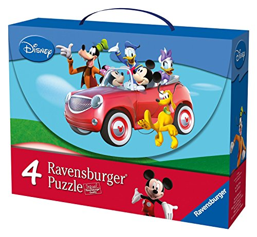 Mickey Mouse Club House – Maleta con 4 puzzles (Ravensburger 07214 9)