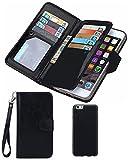 Premium-Schutzhülle aus Leder für Iphone 8Plus und 7Plus von Valentoria, nostalgische Ledertasche mit dünnen, magnetisch abnehmbarem Kartenschlitzen und mit Handgelenksschlaufe