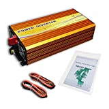 ECO-WORTHY 1500W Off Grid Power Inverter 24V DC to 220V AC for Solar Panel Home System USB Interface