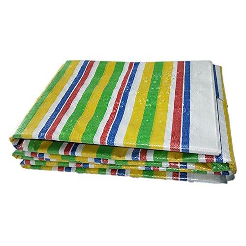 LXF Thick-Plane-Farben-Streifen Dreifarbiges Tuch-Polyäthylen-regendichte Wasserdichte Sunscreen-Halle, Die Den Regen Im Freien 160G/M² Bedeckt (größe : 4M*5M)