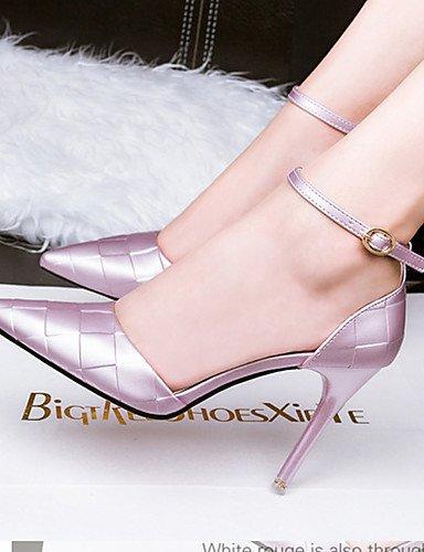 WSS 2016 Chaussures Femme-Décontracté-Noir / Violet / Rouge / Argent-Talon Aiguille-Talons-Talons-Soie silver-us6.5-7 / eu37 / uk4.5-5 / cn37