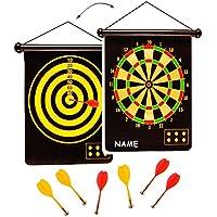 alles-meine.de GmbH 2 seitiges - Magnetspiel Dart - incl. 6 Dartpfeile - OHNE Spitze - mit 2 Spielvarianten - für Kinder & Erwachsene - drinnen und draußen Spiel - Dartspiel - Ki..