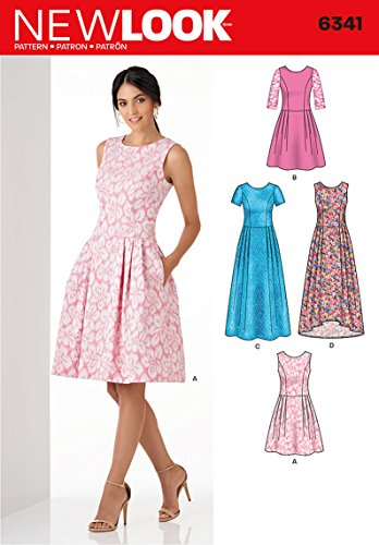 New Look Sewing Pattern 6341: Misses' Dress in Three Lengths, Size A, A (A (6-8-10-12-14-16-18)