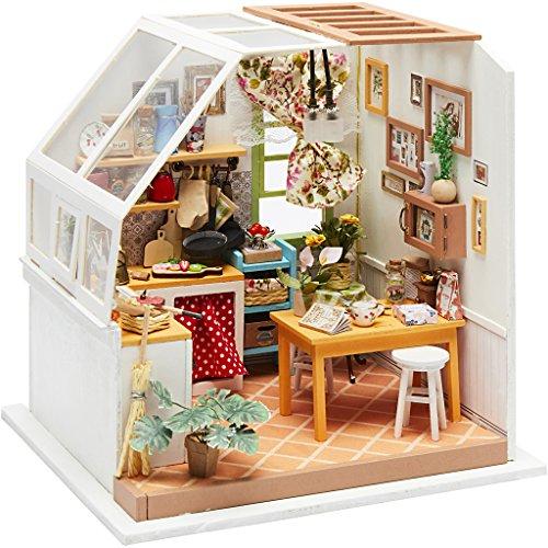DIY Miniaturzimmer, Küche, H 18,7 cm, B 19 cm, 1 Stück, Tiefe 16,5 cm -