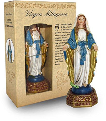 Ferrari & Arrighetti Estatua Virgen Milagrosa de 12 cm con Caja de Regalo y marcapáginas (en ESPAÑOL)