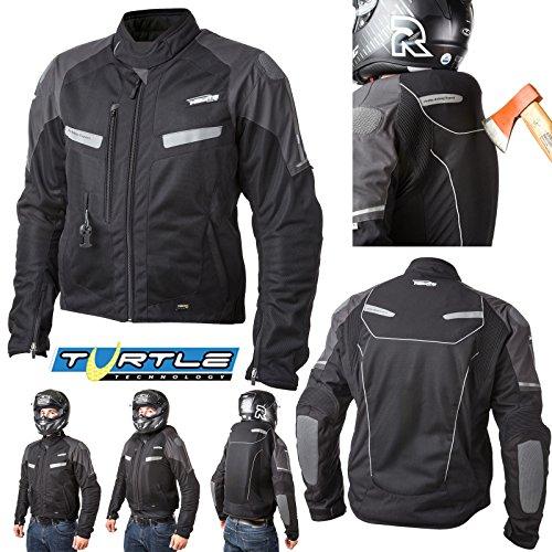 Preisvergleich Produktbild HELITE Sommerjacke VENTED Kurzjacke Motorradjacke mit Airbag System Turtle Weste Größe XL
