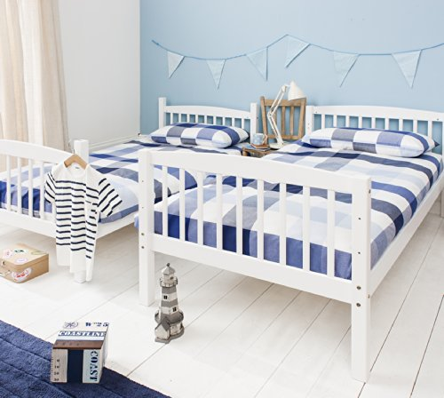 Noa and Nani - Brighton Bunk Bed | Splits into 2 Singles - (White)