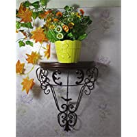 Continental Ferro parete Flower Pot Rack, Hanging piante Scaffale, Muro