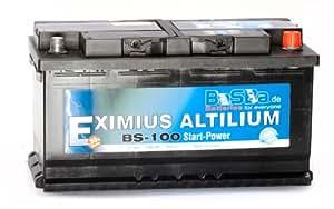 batteria auto 12 v 100 ah bs 100 starter batterie per auto. Black Bedroom Furniture Sets. Home Design Ideas