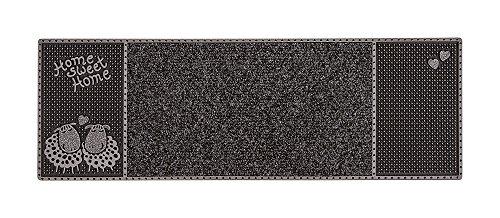 CarFashion 282152 Pur|CenterClean-Outdoor Fussmatte, Schmale Türmatte für Innen und Aussen, Anthrazit-Metallic Oberfläche, ca. 75 x 25 cm