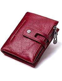 c52e7f69e8e1e Yzibei Dauerhaft High Thirty Percent Echtes Leder Brieftaschen Paket Null  Brieftasche mit Reißverschluss Touch Nice (