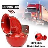 Neborn 8A 12V 250dB 175Hz Rot Metall Elektrische Bull Horn Super Laut Raging Sound Für Auto...