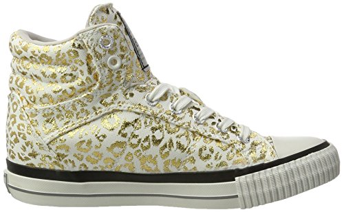 British Knights Dee, Sneakers basses femme Weiß (off white/gold leopard)