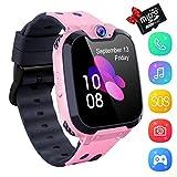 Kinder Smartwatch - Touchscreen Mobile Smartwatches für Mädchen Jungen, Smart Watch Phone mit Musik-Player,SIM-Karte Smartwatch mit Kamera, Spiel für Kinder Geschenk(1GB SD Card Included)