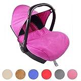BAMBINIWELT kompl. Ersatzbezug für Maxi-Cosi CabrioFix 7-tlg, Bezug für Babyschale, Sommerbezug Cabrio Fix (Marineblau/Pink)