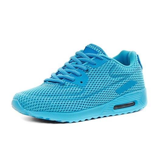 Trendy Unisex Donna Bambini Mens Scarpe Da Corsa Sneaker Allacciata Sneaker Sportiva Sneaker Baby Blue Mesh