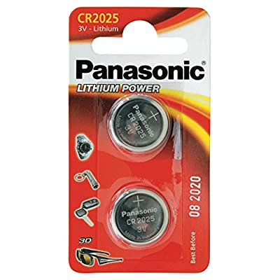 Panasonic CR2025L Specialist Lithium Coin Battery (Pack of 2)