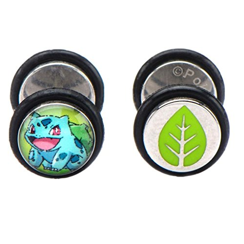 officiel-pokemon-bulbizarre-caractere-faux-plug-stud-boucles-doreilles-pokemon-go