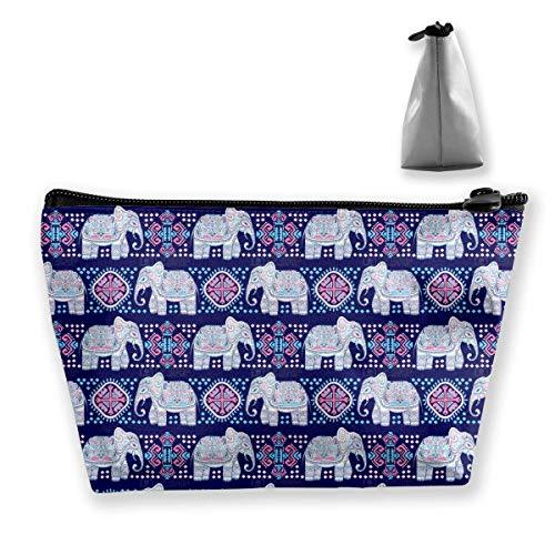 Fundas de maquillaje portátil para elefantes de viaje de elefante morado