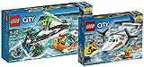LEGO City 60168 - Segelboot in Not + LEGO City 60164 - Rettungsflugzeug