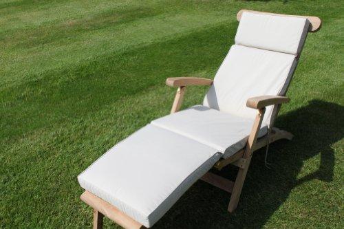 Coussin pour mobilier de jardin - Coussin pour transat de jardin, coloris beige clair