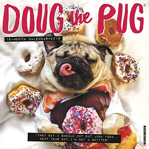 Doug the Pug 2019 Wall Calendar (Dog Breed Calendar)