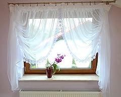 Schöne Fenstergardine