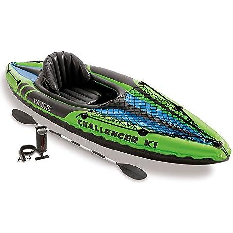 Intex Challenger K1 - Kayak hinchable, 274 x 76 x 33 cm