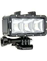 Wallzkey Etanche 300LM High Power LED peut être obscurci vidéo POV flash Lumière d'appoint pour GoPro Hero 4 3 2 3+ SJCAM SJ4000 Dazzne Xiaomi Action Camera