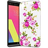 Custodia LG X Power in Silicone,Cover LG X Power Tpu,KunyFond Colorato Chic Nottilucenti Neo Disegno Ultra Sottile Silicone Gel Soft Tpu Protettiva Case Cover con Luminoso Creativo Modello Slim Morbida Gomma Gel Bumper Cover Shock-Absorption Antiurto Copertura Super Sottile Crystal Clear Flessibile Gel Custodia Case Cover Per LG X Power-Fiore di rosa*nottilucenti