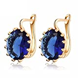 #8: Shining Diva Fashion 18k Gold Plated AAA Crystal Stylish Party Wear Earrings For Women and Girls