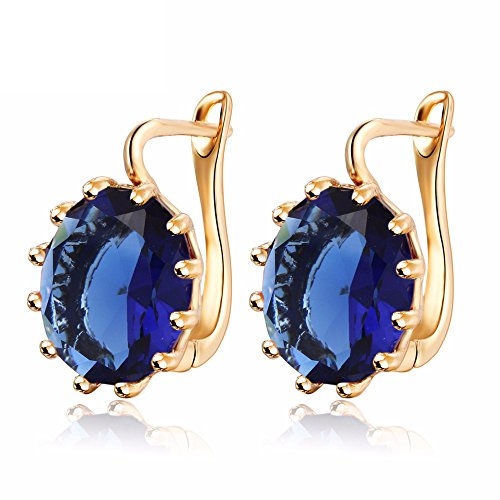 Shining Diva Fashion 18k Gold Plated AAA Crystal Stylish Party Wear Earrings For Women and Girls