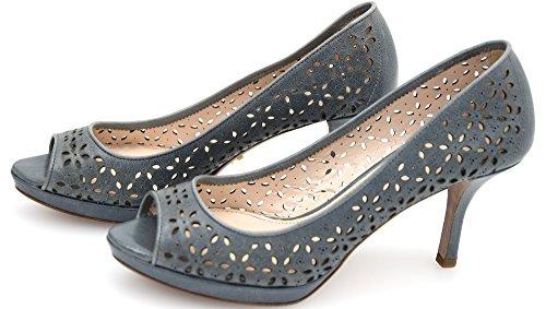 Prada Woman Open Toe Decolte Shoes Aviator Leather Code 1KP183 36,5 AVIO - Aviator