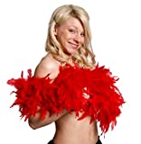 I Love Fancy Dress ILFD2030 80 g Red Feather Boa  180 cm Long