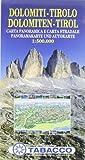Panoramakarte Dolomiten - Tirol: Wanderkarte Tabacco. 1:500000 - TABACCO