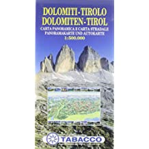 Panoramakarte Dolomiten - Tirol: Wanderkarte Tabacco. 1:500000