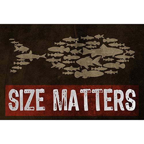 Metallschild mit Aufschrift Matters Fish, lustiges Humor Bar Angeln, groß, 1 Schild, 30,5 x 45,7 cm